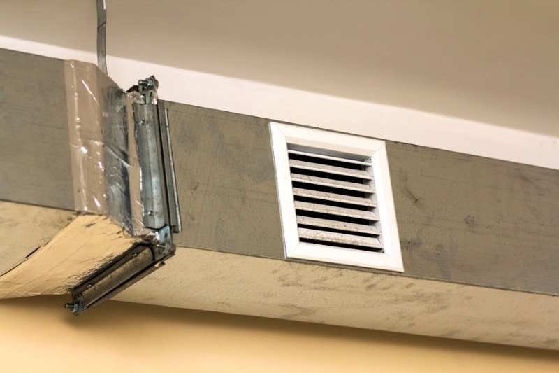 Leaky Ducts in your home representing what poor indoor air quality can look like.