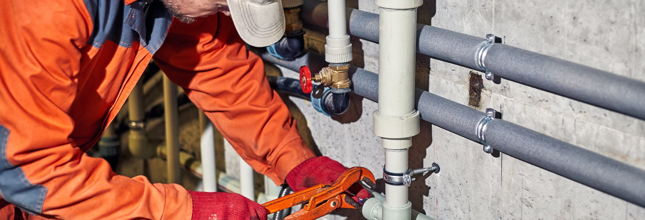 Commercial plumbing service.